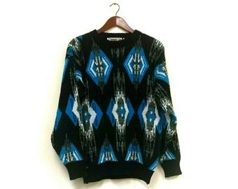 1980s southwestern Aztec bohemian sweater