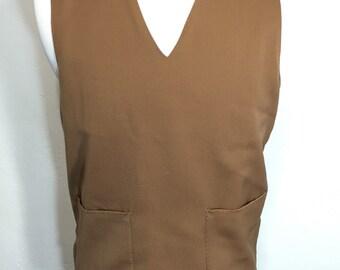 50's vintage wool gabardine v-neck vest mccgregor