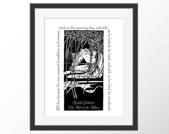 Wind in the Willows Mr. Toad Kenneth Grahame Children's Book Quote Decorative Quote Art Print