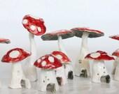 Classic Mushroom Fairy Houses