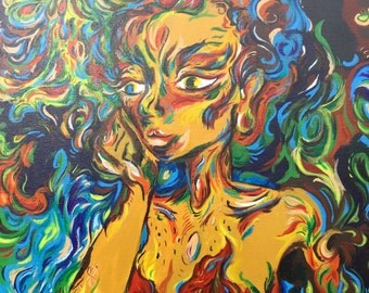 """Original Abstract Acrylic Painting """"The Madame"""""""