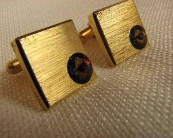 Vintage Rivoli Rhinestones Cufflinks