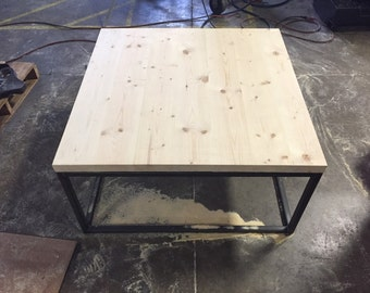 36x36x19 industrial coffee table.