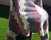Lace Ripple Crocheted Afghan