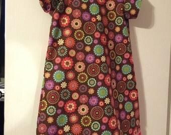 Girls size 8 flower power dress