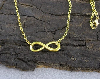 Necklace Collier infinity infinity gold
