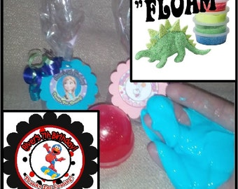 """Personalized Elmo (boy)  Surprise """"Floam"""" Birthday Party Favors - set of 8"""