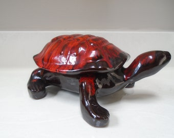 Vintage Evangeline Canada Porcelain Turtle No. 1070 - 10 inches long - 4 1/2 inches tall - excellent condition