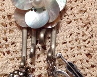 Vintage silver fork pendant