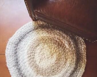 Handmade Wool Roving Rug