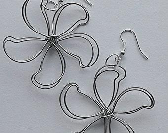 Flower Earrings, Handmade Earrings, Gift for her