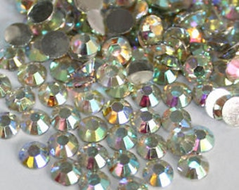 Crystal AB Flat Back Rhinestones 1440pcs Flat Back Crystal wholesale loose flatback rhinestones crystals glass beads 2mm 3mm 4mm 5mm 6mm 7mm