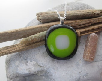 Beautiful Fused Glass Pendant with a choice of Chain
