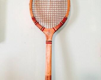 Vintage Wooden Mohawk Tennis Racket