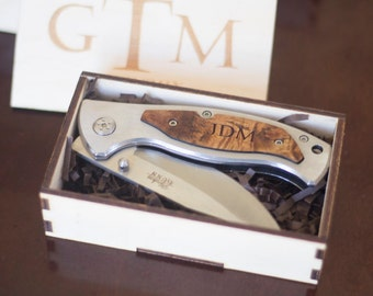 Gifts for Him - Personalized Pocket Knife - Engraved Gifts - Personalized Knives for Fathers, Husbands, Boyfriends and Best Friend Gift