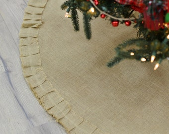 Jute Burlap Christmas Skirt Holiday Decoration Tree