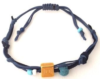 Bracelet  Lava Santorini - Meander