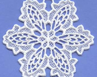 Battenburg snowflake Lace Ornament great for Christmas, winter decorations, attaching to clothing Style A