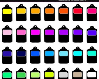 Rainbow Label Clip Art, Rainbow Tag  - 28 Graphics - 300dpi - PNG - Commercial/Personal - Instant Download
