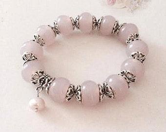 Bracelet pink Lampwork