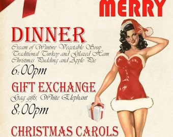 Personalized Christmas Party Poster