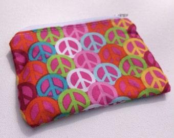 Peace Sign Zipper Pouch
