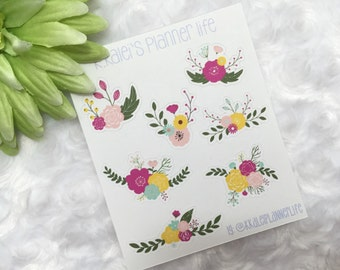 Decorative Floral Cut Out Planner/Journal Stickers