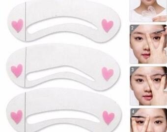 DIY  Eyebrow Stencils