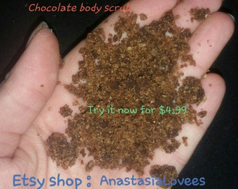 All natural chocolate body scrub