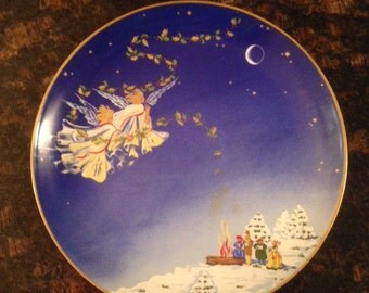 Haviland Limoges Christmas Plate #1 Deck the Halls with Boughs of Holly