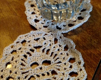 Skull and lace coasters