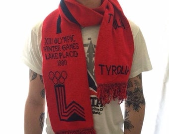 Vintage 1980 olympic game scarf