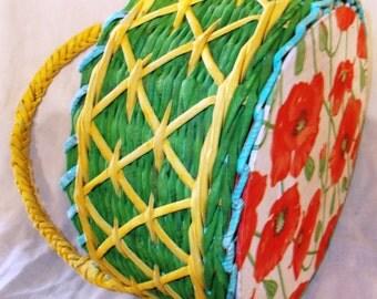 Basket weaving vine paper, newspaper tube