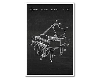 Piano Patent Poster Print