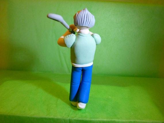 How To Make A Golfer Cake Topper