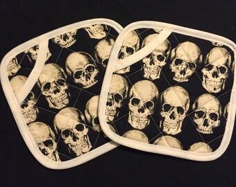 Skull Pot Holders - set of two