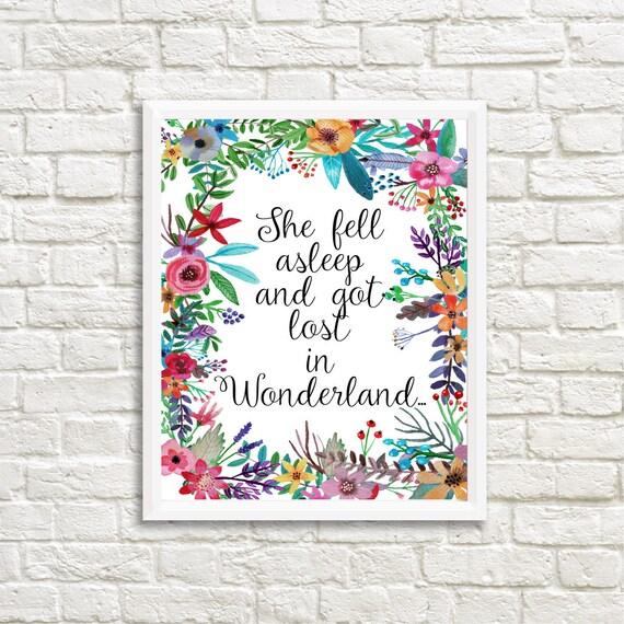 Alice In Wonderland Home Decor Poster Alice In Wonderland Wall Art