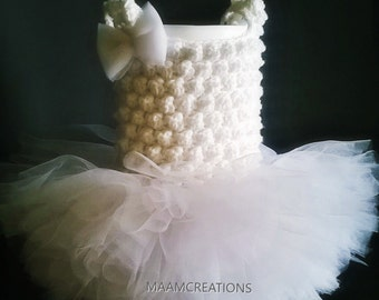 Crocheted Newborn Tutu Dress