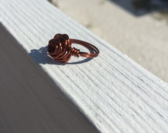 Wire wrapped rose