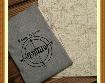True North Compass  / latitude and longitude / novelty / spiritual
