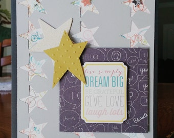 Dream Big, Handmade Card