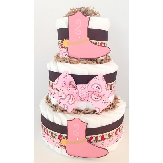 Cowgirl Baby Shower Cakes: Items Similar To Diaper Cake