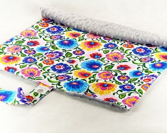 Travel changing pad Flowers