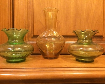 Vintage small glass vases