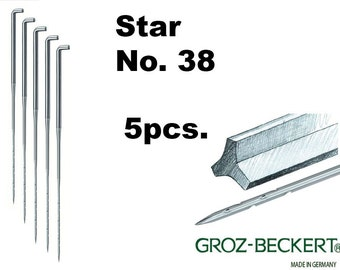Star felting needles, Gauge 38. Price for 5pcs. Made in Germany.
