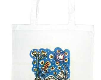 """Tote Bag - """"bird on a branch"""""""