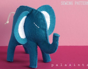 ALFRED the Blue Elephant Sewing Pattern