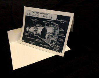 Mercury Capsule Greeting Card
