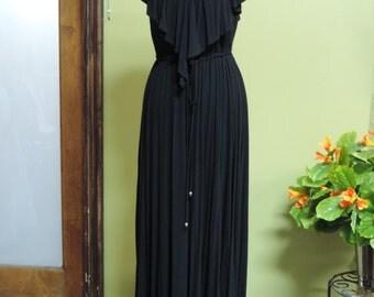Black knit dress. Size 2