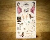 Glamour Decorative Planner Stickers for all Planners. Erin Condren, Kate Spade, Kiki K, FiloFax.